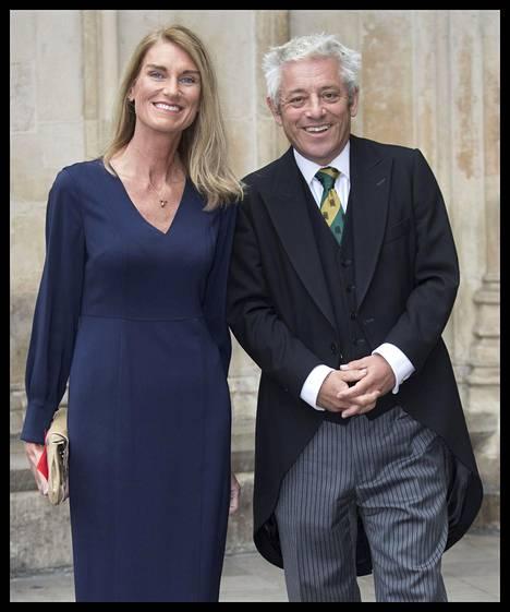 John Bercow ja hänen vaimonsa kuvattuna viime syyskuussa.