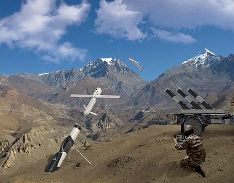 Valmistajan kuva Alpagu-lennokista. Turkkilaisen STM-yhtiön laite on aseistettu ja valmistajansa mukaan se kykenee itsenäiseen toimintaan.