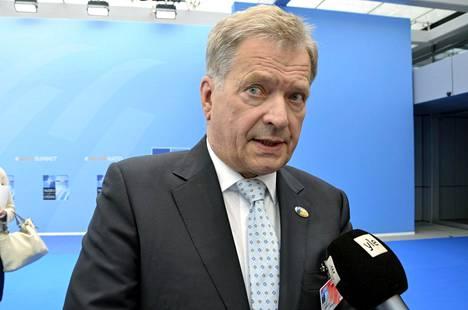 Niinistö vastasi IS:n kysymykseen Brysselissä Naton huippukokouksessa.