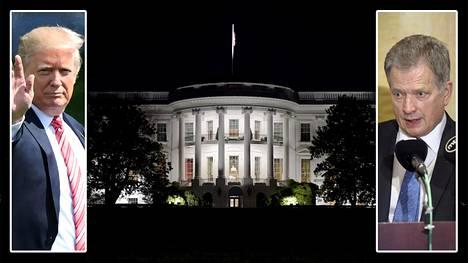 Donald Trump ja Sauli Niinistö tapaavat Yhdysvaltain presidentin virka-asunnossa Valkoisessa talossa.