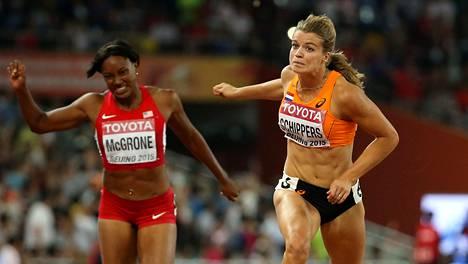 Dafne Schippers (oik.) on 200 metrin maailmanmestari.