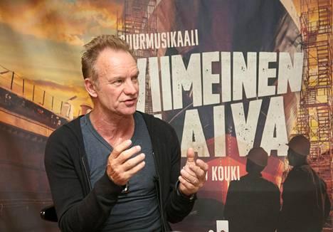 Sting saapui Turkuun katsomaan musikaalia.