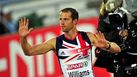 Rhys Williams on aitajuoksun moninkertainen arvokisamitalisti.