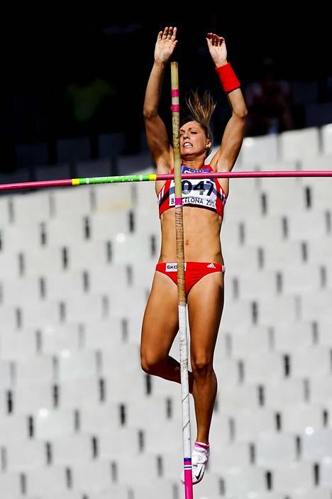Kira Grünberg kilpaili juniorien MM-kisoissa Barcelonassa 2012.