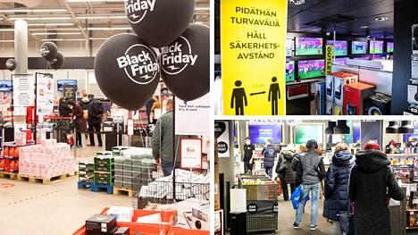 Black Friday -tarjoukset ovat jo esillä monissa myymälöissä.