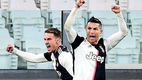 Aaron Ramseyn ja Cristiano Ronaldon Juventus majailee Serie A:n piikkipaikalla. Kuva maaliskuulta.