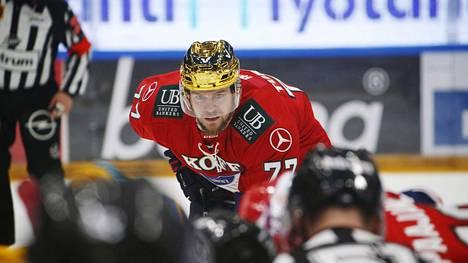Teemu Turunen pelasi viime lauantain Kärpät-vierasottelun loppuun.