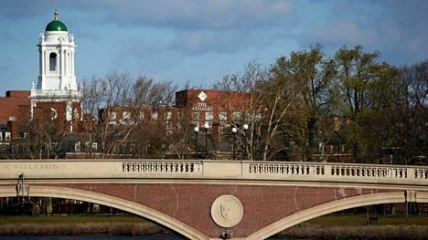 Yleiskuva Harvardin kampukselta Cambridgesta, Massachusettsista.