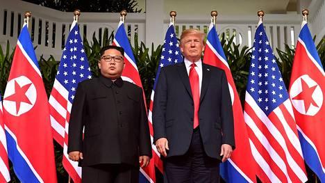 Donald Trump ja Kim Jong-un tapasivat Singaporessa kesäkuussa.