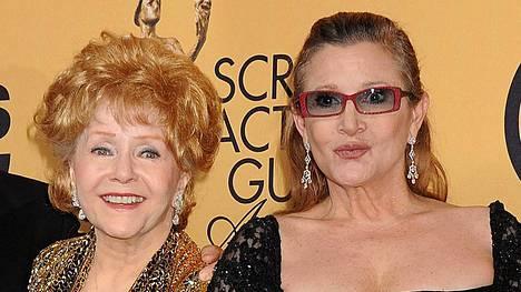 Debbie Reynolds ja Carrie Fisher kuolivat perättäisinä päivinä.