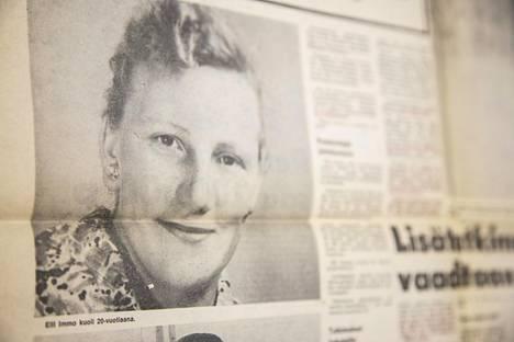 Elli Immo löytyi surmattuna 8. joulukuuta 1955 Kemin Ristikankaalta. Surmaajaa ei koskaan löydetty.