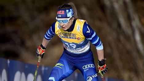 Riitta-Liisa Roponen oli tiistain nopein suomalainen.