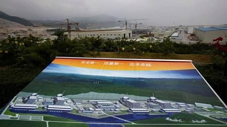 Taishanin ydinvoimala sijaitsee Etelä-Kiinassa (arkistokuva rakennustyömaasta).