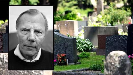 Rainer Stenius kuoli loppuvuodesta 2014, mutta ei ole vieläkään saanut hautakiveä. Kuva otettu vuonna 2013.