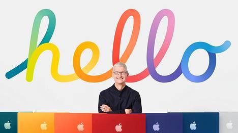 Tilaisuutta isännöi Applen toimitusjohtaja Tim Cook.