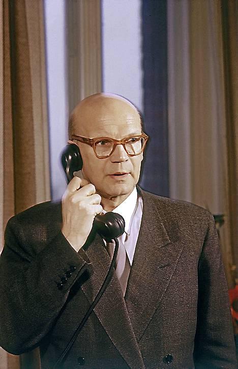 Dynaaminen Kekkonen nousussa vuonna 1950.