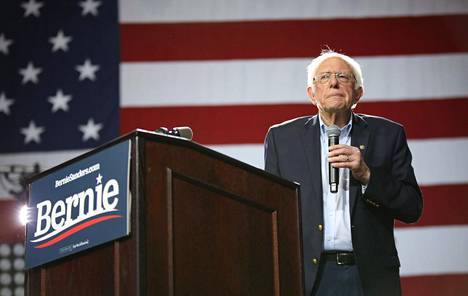 Presidenttiehdokas Bernie Sanders.