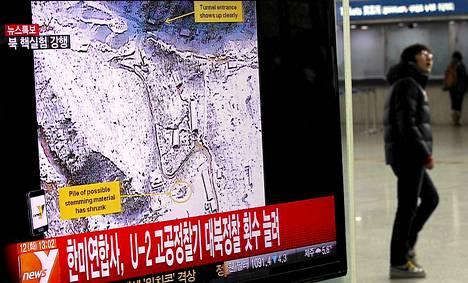 Pohjois-Korean ydinkoe oli iso uutinen Etelä-Koreassa.