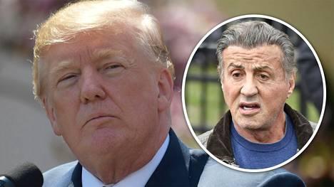 Donald Trump antoi ymmärtää Twitterissä, että Hollywood-tähti Sylvester Stallone soitti hänelle.