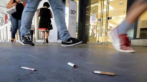 Yleisin ympäristöstä poimittu roska on tupakan tumppi.