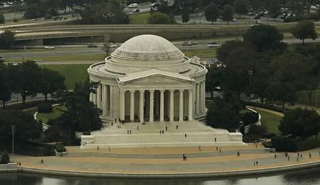 Jeffersonin muistomerkki Washingtonissa.