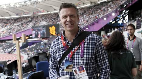 Keihäslegenda Steve Backley kuvattuna Lontoon olympiakisoissa vuonna 2012.
