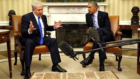 Israelin pääministeri Benjamin Netanjahu ja Yhdysvaltain presidentti Barack Obama tapasivat Washingtonissa marraskuussa 2015.