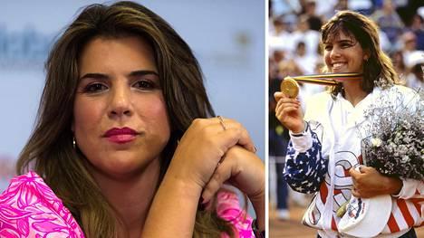 Olympiakultaa Barcelonassa 1992 voittanutta Jennifer Capriatia on tennisuransa jälkeen nähty harvoin julkisuudessa. Vasemmanpuoleinen kuva on viime vuodelta WTA-kiertueen tapahtumasta.
