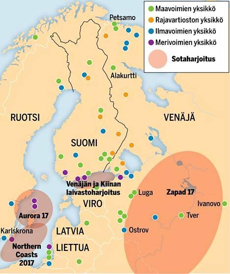 Itämeren alueella nähdään loppuvuoden aikana neljä suurta sotaharjoitusta.