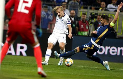 Joel Pohjanpalon maali yli vuoden loukkaantumishelvetin jälkeen oli Suomen pelin valopilkku.