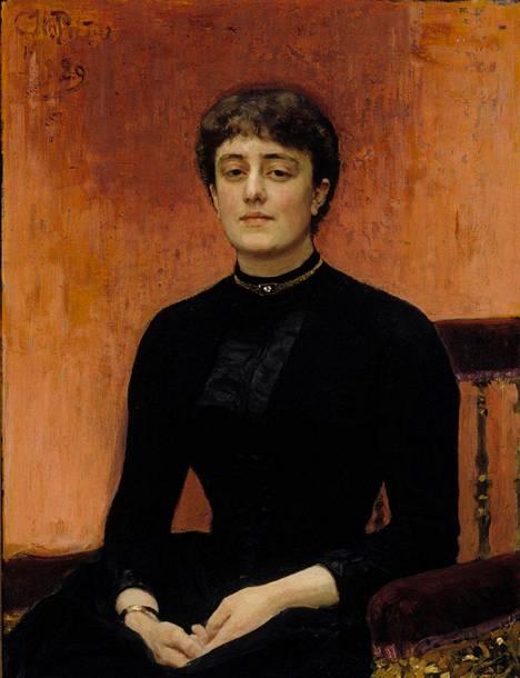 Ateneum lainasi Tretjakovin gallerian Repin-näyttelyyn myös Jelizaveta Zvantsevan muotokuvan.