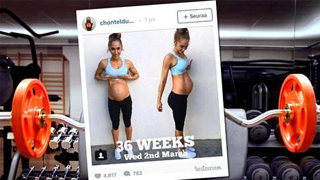 Chontel Duncanin jakamat fitness-henkiset raskauskuvat kohahduttavat sosiaalisessa mediassa.