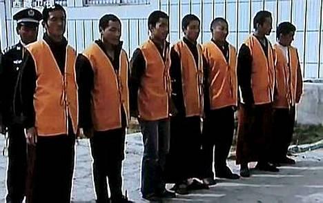 Tiibetin tv esitti viime viikolla kuvia pidätetyistä mielenosoittajista.