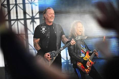 Metallican Worldwired Tour rantautui tiistaina Hämeenlinnaan Kantolan tapahtumapuistoon. Keikka oli loppuunmyyty.