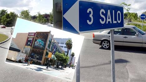 Saloon valmistuu syyskuussa kaksi uutta muraalia. Vasemmalla kuvassa Leon Keerin taidonnäyte Long Beachilta.