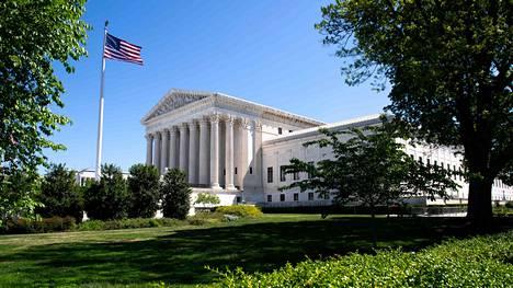 Korkeimman oikeuden rakennus Washingtonissa.