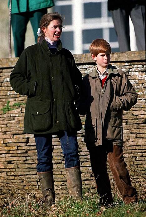 Tiggy ja Harry vuonna 1997.