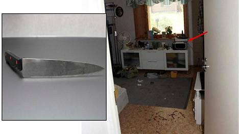 Syytteen mukaan mies surmasi äitinsä keskellä päivää julmalla tavalla käyttäen kolmea teräasetta.