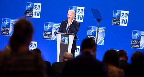Presidentti Joe Biden piti lehdistötilaisuuden Nato-huippukokouksen yhteydessä Brysselissä maanantaina. Kysymykset koskivat pääasiassa tulevaa Putin-tapaamista.
