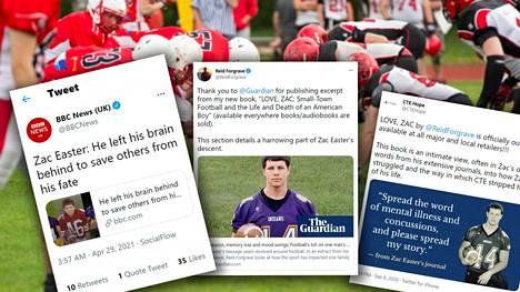 Useat mediat ovat uutisoineet Zac Easterin kohtalosta hänestä kirjoitetun kirjan jälkeen.