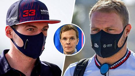 Niki Juusela (pikkukuvassa) uskoo, että Max Verstappen (vas.) on mestaruustaistossa mukana. Myös Valtteri Bottaksella on iskunpaikka.