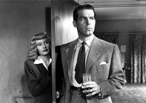 Phyllis Dietrichson (Barbara Stanwyck) ja Walter Neff (Fred MacMurray).
