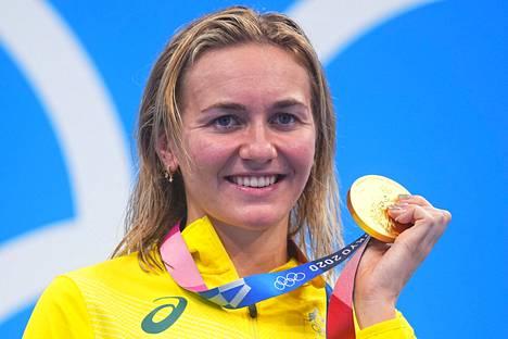 Australian Ariarne Titmus on jo kaksinkertainen olympiavoittaja Tokiosta.