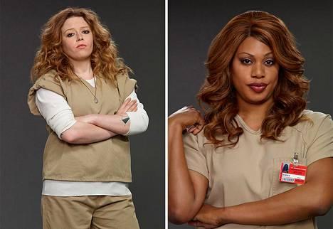 Nicky Nichols (Natasha Lyonne) ja Sophia Burset (Laverne Cox) olivat Orange is the New Blackin näkyvimpiä HLTBTQ-hahmoja.