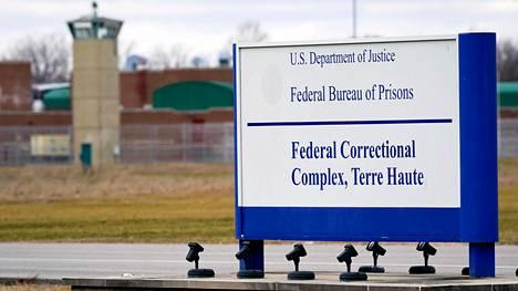 Dustin Higgs on määrä teloittaa Terre Hauten vankilassa Indianassa.