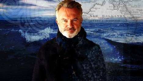 Näyttelijä Sam Neill reissaa Tyynellämerellä James Cookin inspiroimana dokumenttisarjassa.