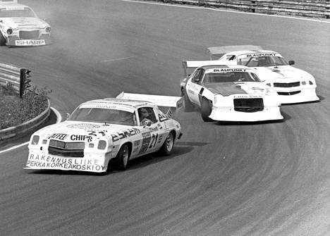 Jouko Kallio, Per Alm ja Kjell-Åke Johansson Ahveniston Camaro-erässä 1982.