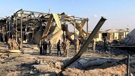 Iran teki ohjusiskun Ain al-Asadin sotilastukikohtaan Irakissa tammikuun alussa.
