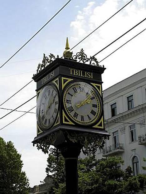 Aika näkyy Tbilisin keskustassa.