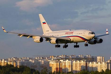 Vastaavia koneita käytetään myös Aeroflotin reittilennoilla.
